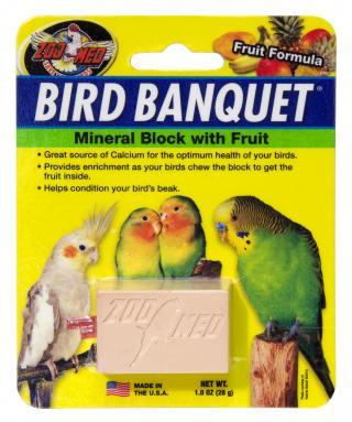 Zoomed Bird Banquet minerální blok s ovocem S