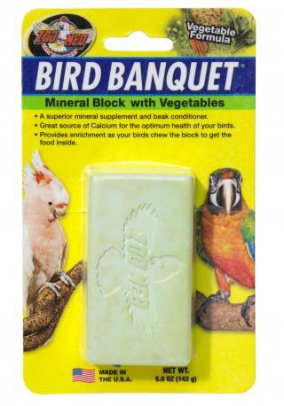 Zoomed Bird Banquet minerální blok se zeleninou L