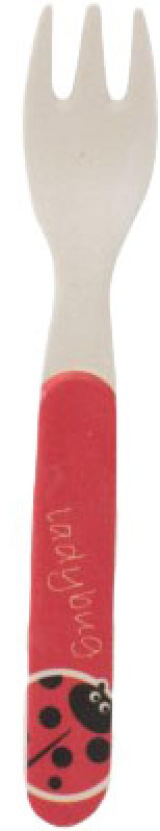 ZOPA Bambusová vidlička, Ladybird červená